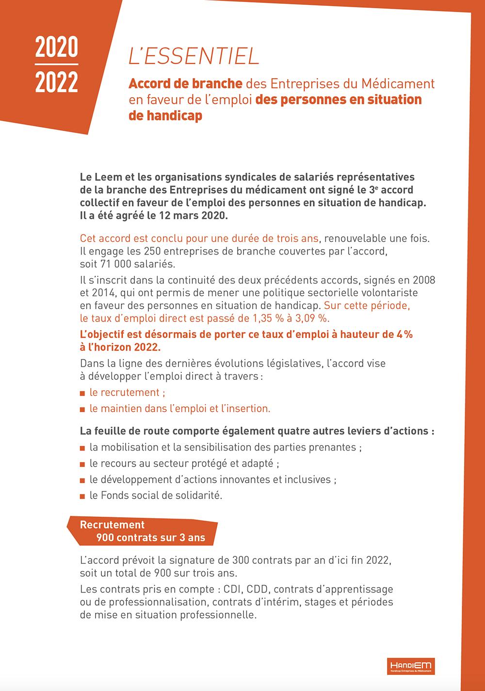 HandiEM - Bilan des actions 2015